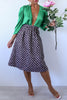 KTR Polka Dots Tweed Midi Skirt