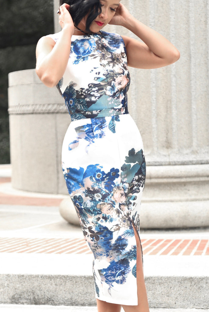 Flower Power Pencil Dress
