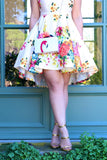 KTR Forget Me Not Floral Dress in Cream