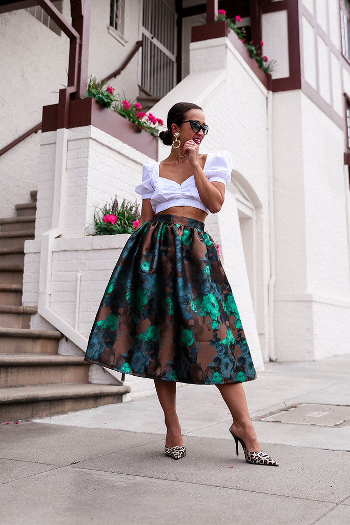 * MADE TO ORDER: Vintage Floral Midi Skirt