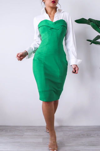 Green Sweetheart Bodycon Dress