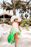 * MADE TO ORDER: TULUM Maxi Dress in Green Ombre