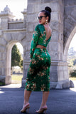KTR Green Floral Velvet Set
