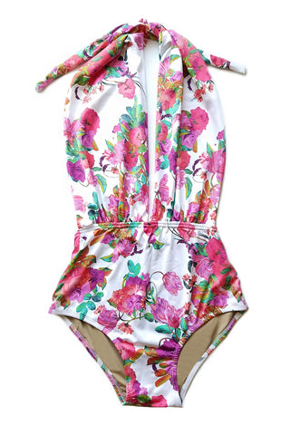 * MADE TO ORDER: Take The Plunge Halter One Piece Swimsuit