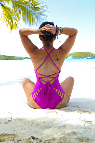 * MADE TO ORDER: Heart Strings One Piece Swimsuit