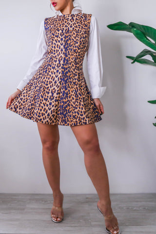 ASOS Leopard Mini Skater Dress