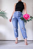 Vintaged Distressed High Waisted Mom Jeans