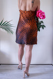 Zara Orange and Brown Leopard Print Slip Dress