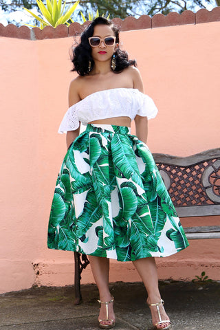 * MADE TO ORDER: The Palms Spring Midi Skirt