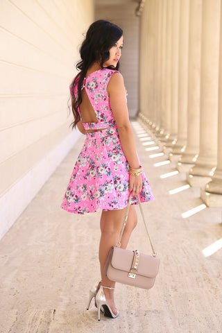 KTR Pink Floral Mini Skirt