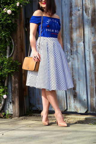 KTR Connect the Dots Midi Skirt