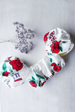 Ballon Sleeves Floral Crop Top (Size S - Only 1)