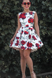 Endlessly in Rose Dress in White