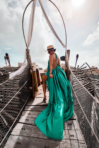 * MADE TO ORDER: Take Me To TULUM Maxi Dress