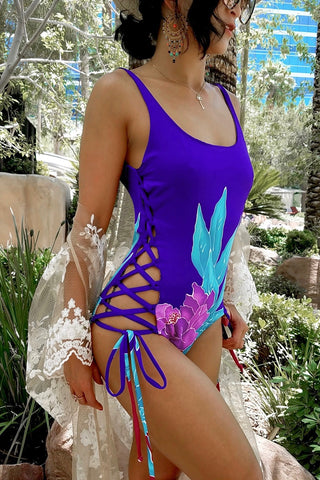 * MADE TO ORDER: Side Lace Up One Piece Swimsuit