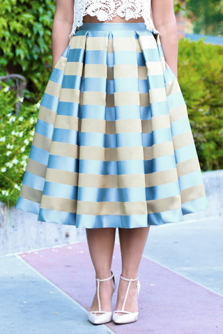 KTR Stripes Midi Skirt