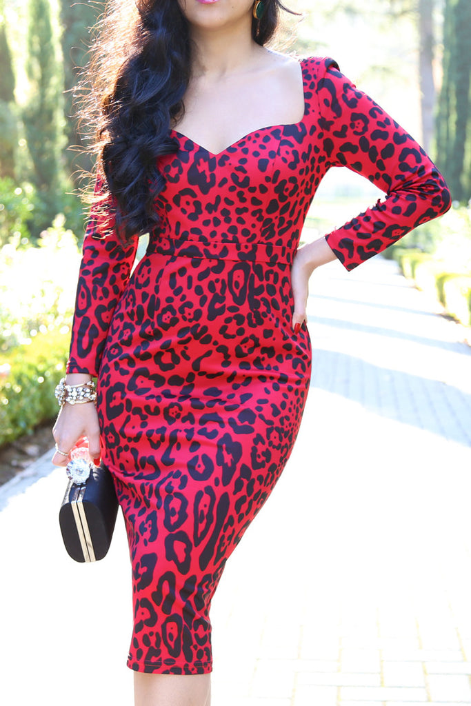 The Red Leopard Dress - KTRcollection