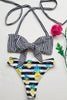 * MADE TO ORDER: High Cut 80s Style Two Piece Retro Swimsuit (w/ Knot Tie Top)