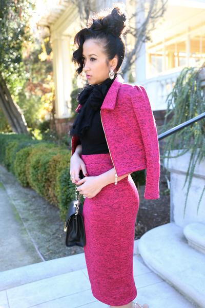 KTR Crop Jacket and Matching Pencil Knit Skirt