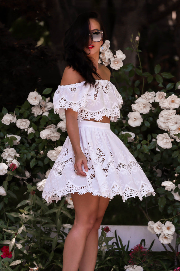 * MADE TO ORDER: The Sweetest Thing Lace Skirt + Top Set