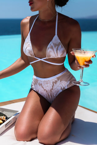 * MADE TO ORDER: For Love & Lace Two Piece Retro Swimsuit