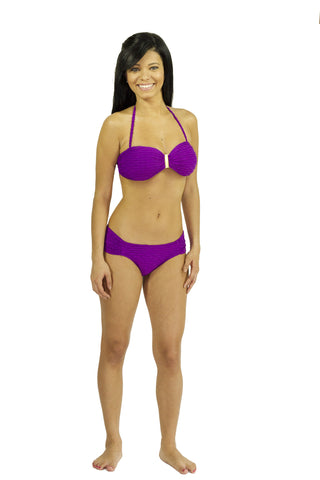 Acai Berry Bikini Set  (black and purple)