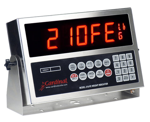 Cardinal, 210FE, IP66 Enclosed Digital Indicator, Legal for Trade