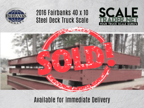 Never Used Fairbanks Talon HV Steel Deck Truck Scale 40 x 10 - For Sale in Mississippi