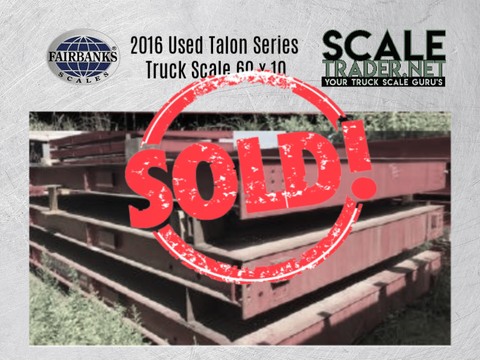 Used Fairbanks Talon HV Series Steel Deck Truck Scale 60 x 10 - For Sale in Mississippi
