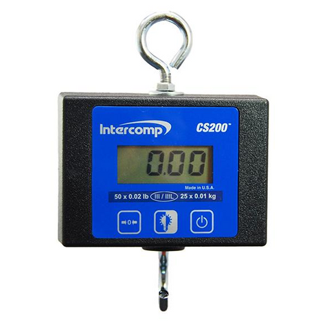 Intercomp CS200, Light Duty Digital Hanging Scale, 100 lb x 0.05 lb