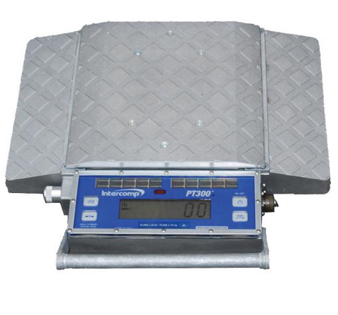 Intercomp 181006-RFX, PT300 Wireless Solar Wheel Load Scale, 5,000 lb x 5 lb