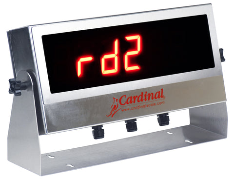 "Cardinal, RD2, 2.25"" LED Remote Display in Stainless Steel Enclosure & RS-232"