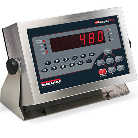 Rice Lake, 480+ Legend Series, Digital Weight Indicator, 115 VAC, NTEP