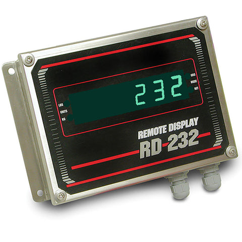 "Rice Lake, 178169, 0.8"" Green LED Remote Display, Stainless Steel Enclosure"