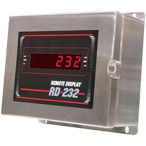 "Rice Lake, 32717, 0.8"" Red LED Remote Display, NEMA 4X Stainless Steel Enclosure"