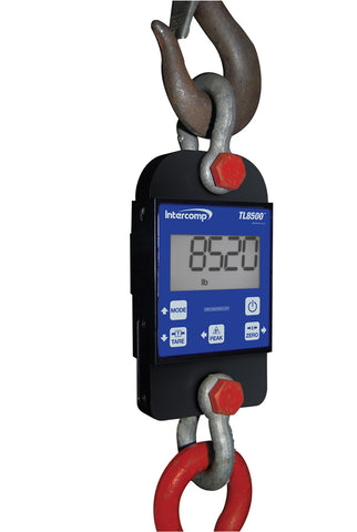 Intercomp TL8500 Wireless Tension Link Dynamometer 2000 lb x 2 lb LCD Display Industrial Scale, Made in USA