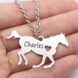 Horse Lover Gift Racing Horse Necklace