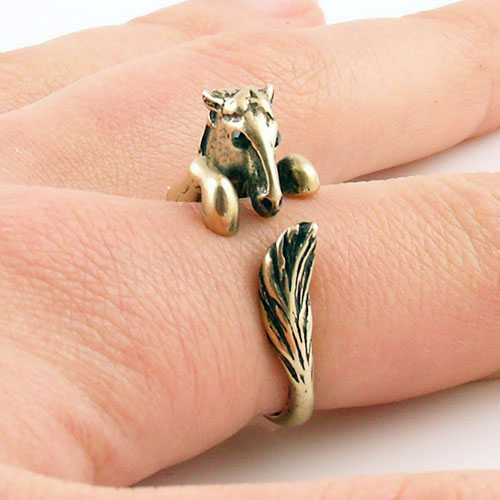 Comfortable Lucky Horse Ring for Gift - azponysolutions