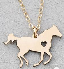Horse Lover Gift Racing Horse Necklace - azponysolutions