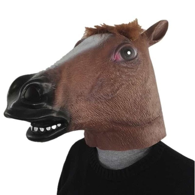 Horse and Unicorn Head Mask - azponysolutions