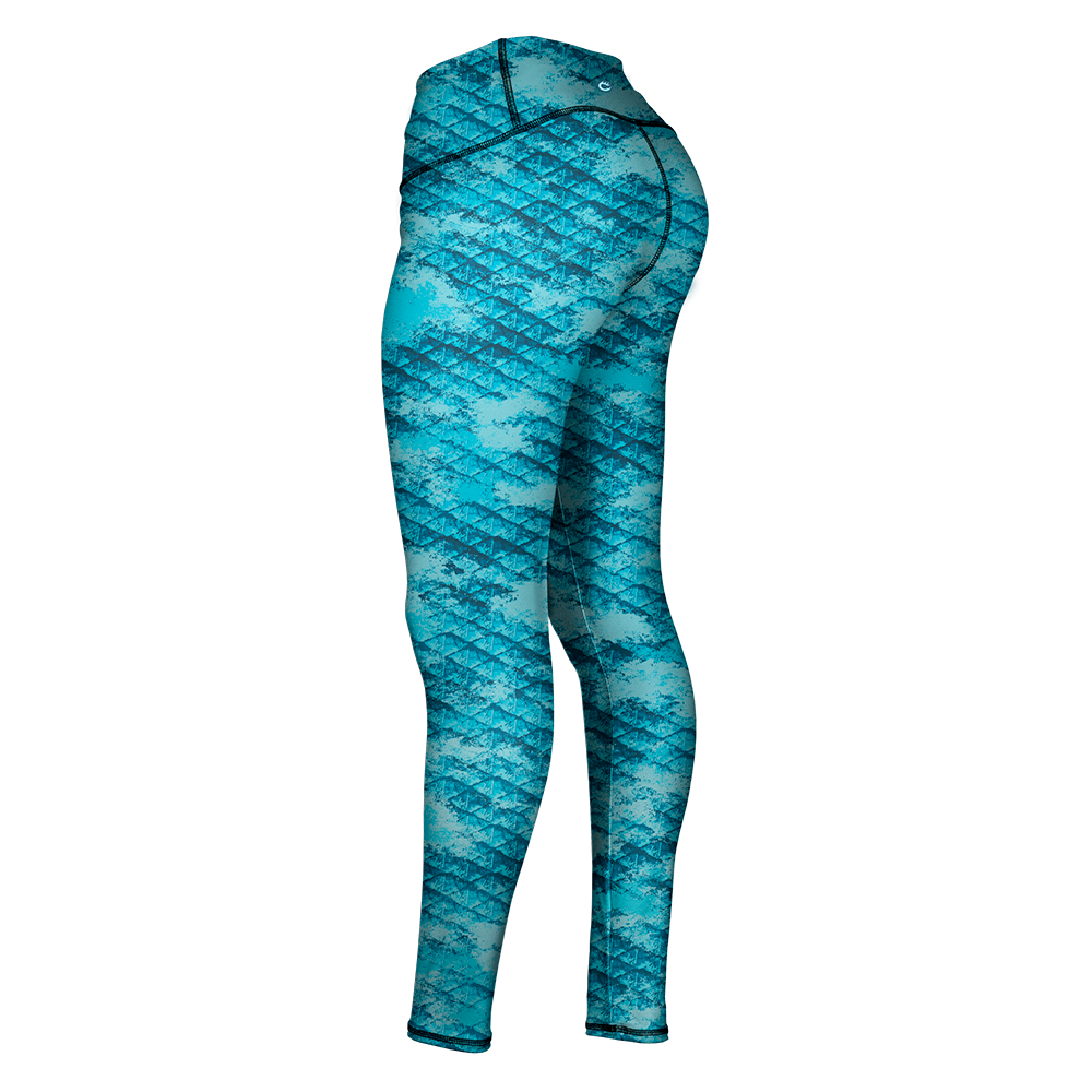 COASTAL SKALEZ FISHING LEGGING - LIQUID BLUE