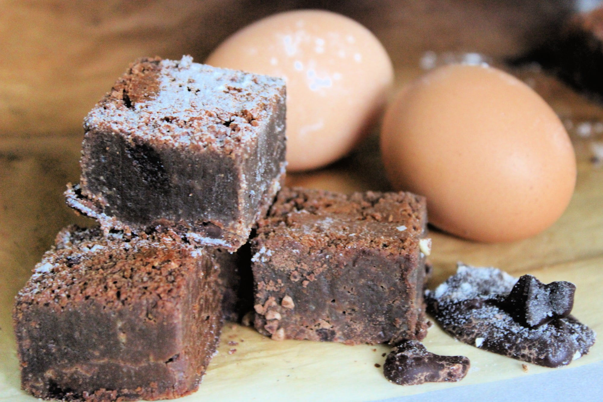 Brownies and egg