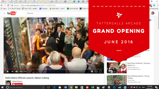 VIDEO:  Dello Mano Grand Opening Tattersalls Arcade