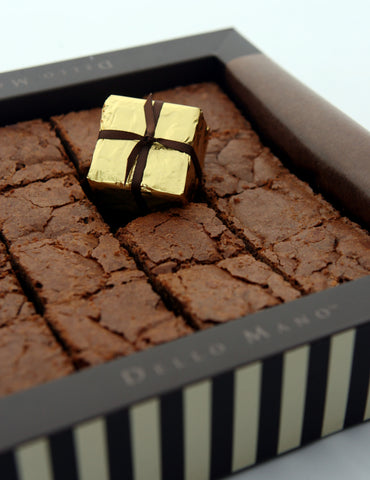 The Dello Mano Signature Luxury Belgian Chocolate Brownie Gift Box