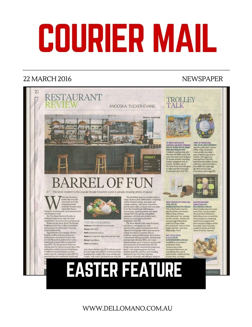 Dello Mano Easter Feature - Courier Mail - 22 March 16