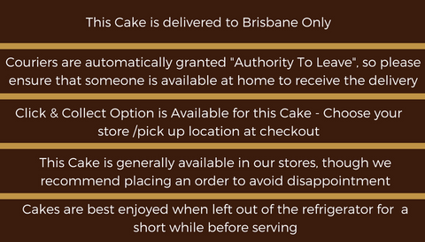 Gluten Free Chocolate Mousse Cake Delivery in Brisbane instructions.