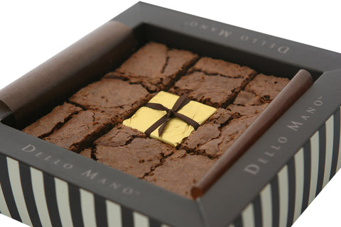 Dello Mano Luxury Brownie Gift Box of Belgian Chocolate Classic