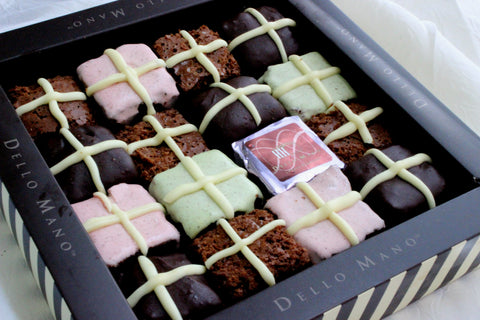 Dello mano listed in brisbane best easter gifts and treats list available in two sizes this easter gift is available in the traditional easter brownie gift box as well as in this years special box of pastel colours negle Choice Image