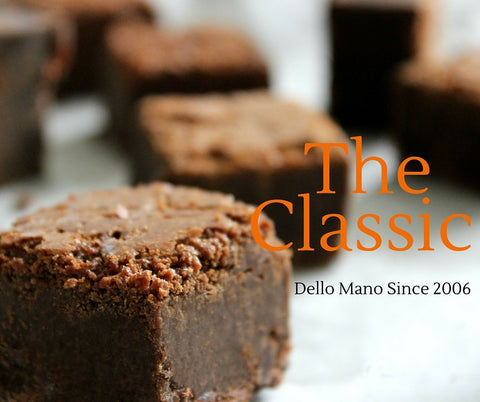 Dello Mano Brownies pioneered the brownie market with the Classic Luxury Belgian Chocolate Brownie