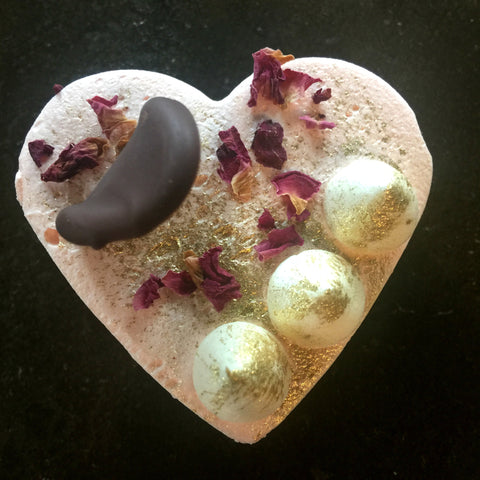 Vegan Brownie heart for Valentines Day
